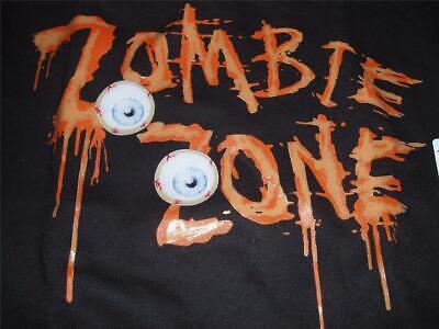 ZOMBIE ZONE Eye Balls Halloween Sweat Shirt Sweater Youth Boys New - Zone Halloween Ball
