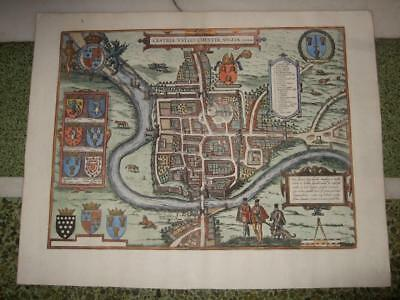 1575RARE XL-CHESTER/CESTRIA,BRAUN+HOGENBERG,GREAT BRITAIN,UNITED KINGDOM,ENGLAND