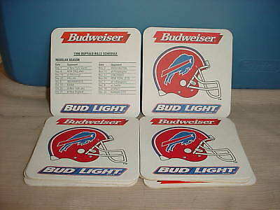 Buffalo Bills Coaster - BUFFALO BILLS 1996 BUDWEISER BUD LIGHT COASTER NEW! FREE USA SHIPPING