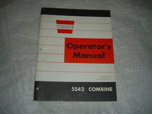 white oliver cockshutt 5542 combine operator 39 s manual ebay