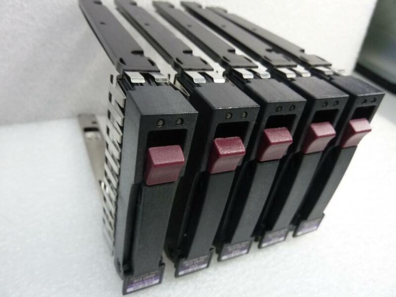 "5x HP 500223-001 2.5"" SAS / SATA Server Hard Drive Caddies / Trays HP Proliant"