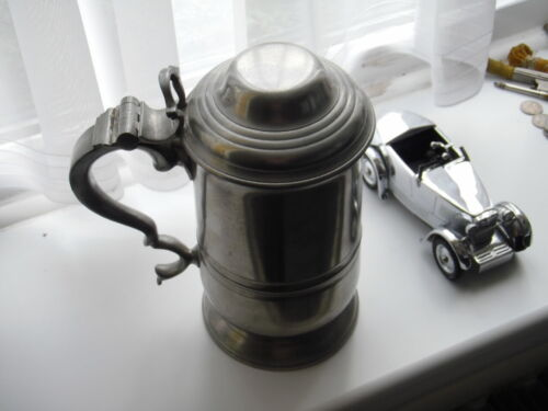 Dunhill Tobacco jar, pewter Tankard, Large & Heavy