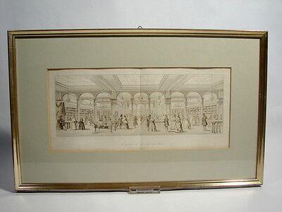 Le grande Mode Lithographie 1860 Magasins de la Ville de Paris Galerierahmung