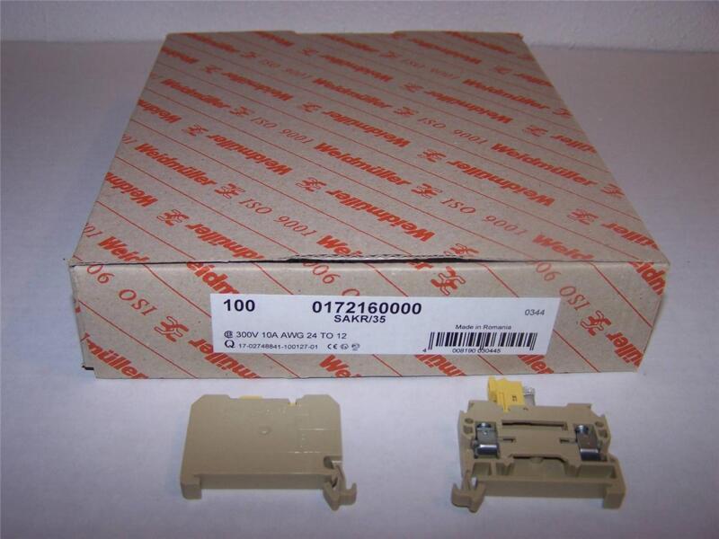WEIDMULLER 0172160000 SAKR/35 TERMINAL BLOCK NEW IN BOX LOT OF 100