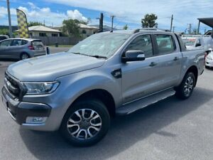 2016 Ford Ranger PX MkII Wildtrak Double Cab Silver 6 Speed Sports Automatic Utility Bungalow Cairns City Preview