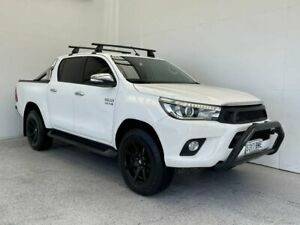 2015 Toyota Hilux GUN136R SR5 Double Cab 4x2 Hi-Rider White 6 Speed Manual Utility Mount Gambier Grant Area Preview