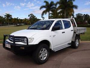 2012 Mitsubishi Triton GLX 4x4 Turbo Diesel Manual D/Cab Utility Garbutt Townsville City Preview