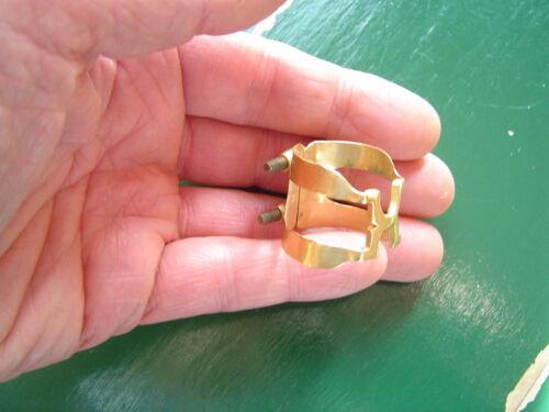 Vintage Gold Plate Harrison Ligature for Alto Sax:  Mint Condition - Rare Size