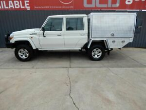 2017 Toyota Landcruiser VDJ79R GXL Double Cab White 5 Speed Manual Cab Chassis Blair Athol Port Adelaide Area Preview