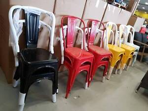 STEEL multiple colours! Restaurant / cafe / dining chairs!! NEW!! Springwood Logan Area Preview