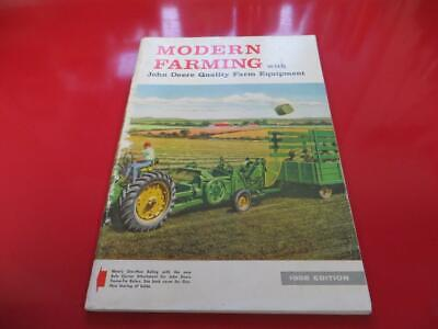 John Deere Modern Farming 1958 Catalog Magazine.brochure 530 630 730 830 430