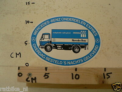 STICKER,DECAL MERCEDES-BENZ ONDERDELEN EXPRESS TRUCK