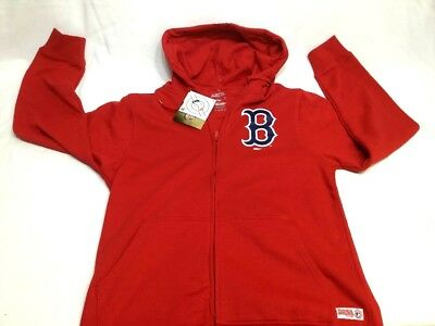 Boston Red Sox Zip Up Hooded Sweatshirt Jacket Stitches Brand Mens Large FREESP (Boston Red Sox Hooded Jacket)