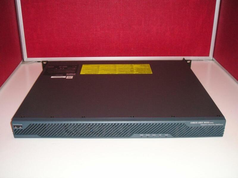 CISCO ASA 5520 w/ 750 SSL AnyConnect Premium 500 UC Proxy / VPN Plus 20 Context