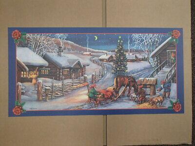 Scandinavian Swedish Christmas Poster Print Tomtar at Well Erik Forsman ()
