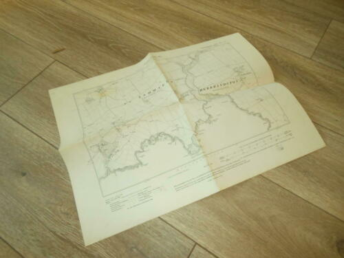 WW2 British - TOPOGRAPHICAL MAP - Pembrokeshire / Ports - TOP SECRET - RARE!