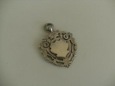 Solid Silver Albert Chain Fob Medal Birmingham 1920