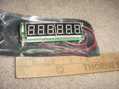 Frequency Meter 6 Digit Blue Display 100khz-65mhz Range