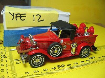 "FIRE TRUCKS~YFE12~1930 FORD MODEL ""A"" BATTALLION CHIEF'S VEHI~MNT IN BOX~SCARCE~"