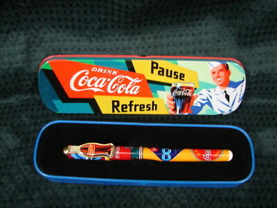 OPC 1996 Coca Cola Roller Ball Pen in Advertising Tin Never Used