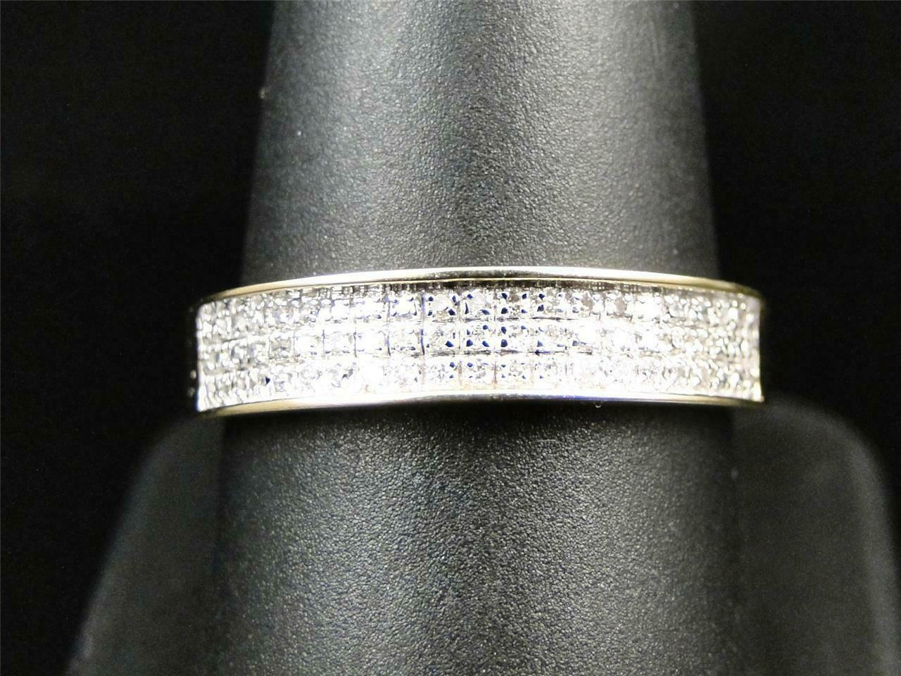 0.50Ct Round Cut Diamond Mens Wedding Engagement Band Ring 14K Yellow Gold Over 3