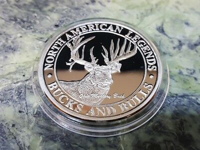 North American Hunting Club NAHC Bucks and Bulls the Mystery Buck Silver Coin