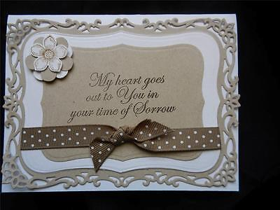 Handmade Sympathy Card Spellbinders Decorative Labels Eight W Stampin Up Label 8