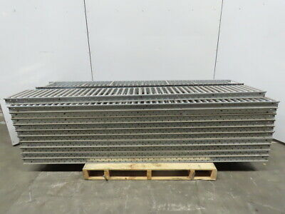 Span -track Carton Flow Gravity Roller Conveyor 12-12 X 86-34 Lot Of 34