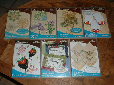 Anita Goodesign Embroidery Machine Design Mini Collections CD Your Choice of 1
