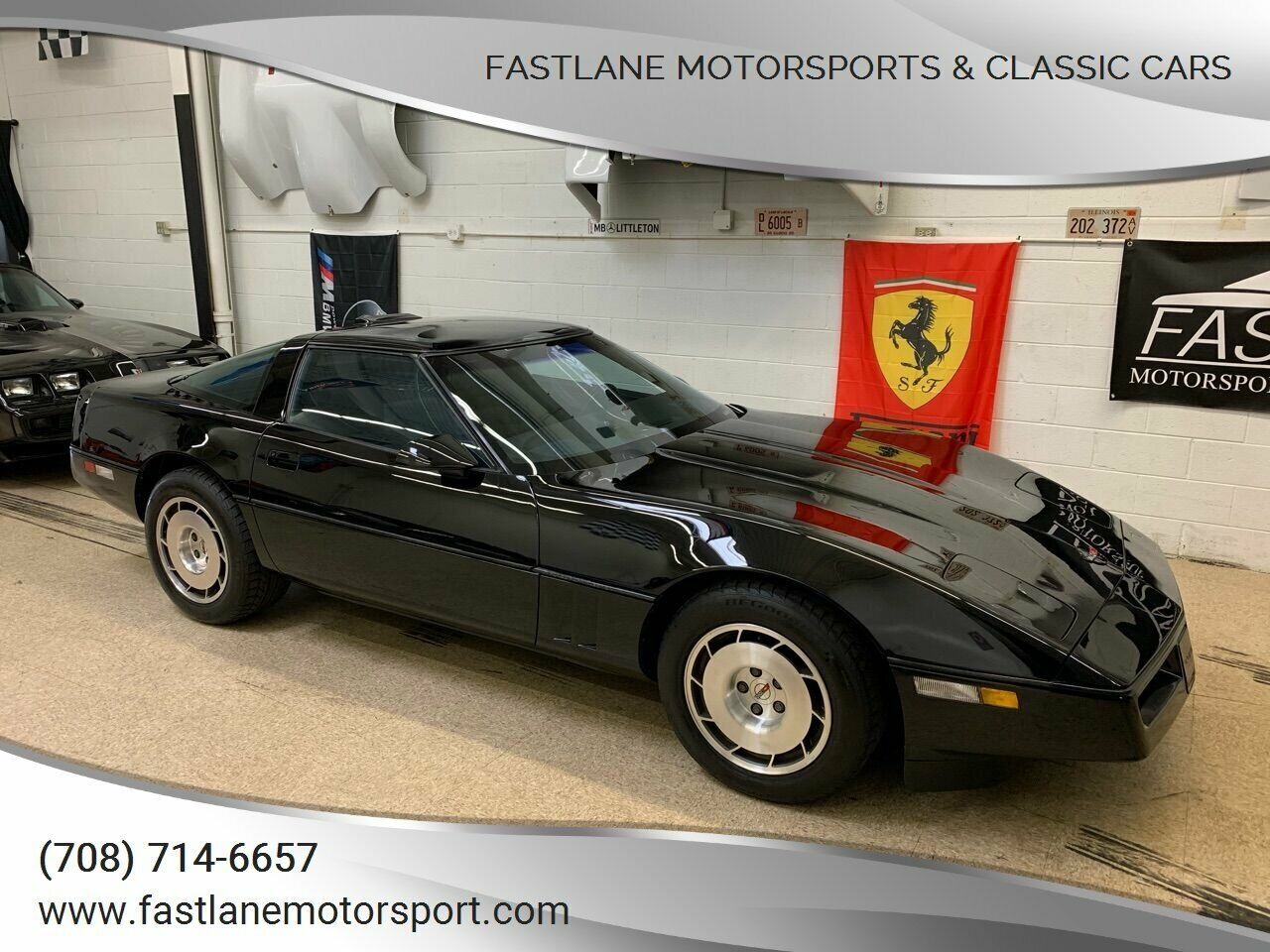 1986 Black Chevrolet Corvette   | C4 Corvette Photo 1