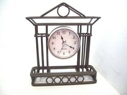 Westclox Wrought Iron Desk Shelf  Mantel Clock, Great Working Order