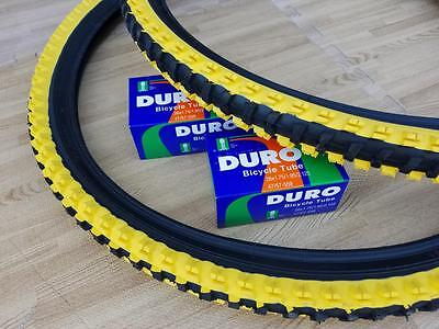 """2-26x2.125 DURO Beach Cruiser Bicycle Slick Tires /& 2-26/"""" Tubes Tire Combo"""