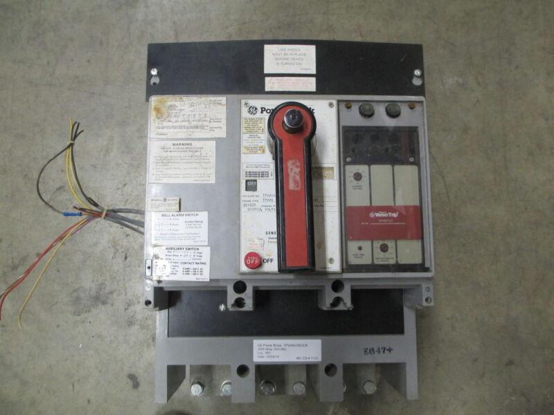 Ge Powerbreak Tpvv6620e5ck 2000a 3p 600v Eo/fm Circuit Breaker W/ Li Used E-ok