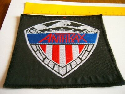 ANTHRAX – very rare old original 80's Wappen Patch!!!