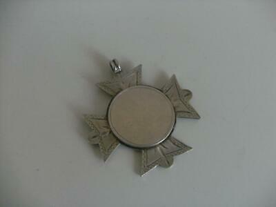 Solid Silver Albert Chain Fob Medal Birmingham 1900