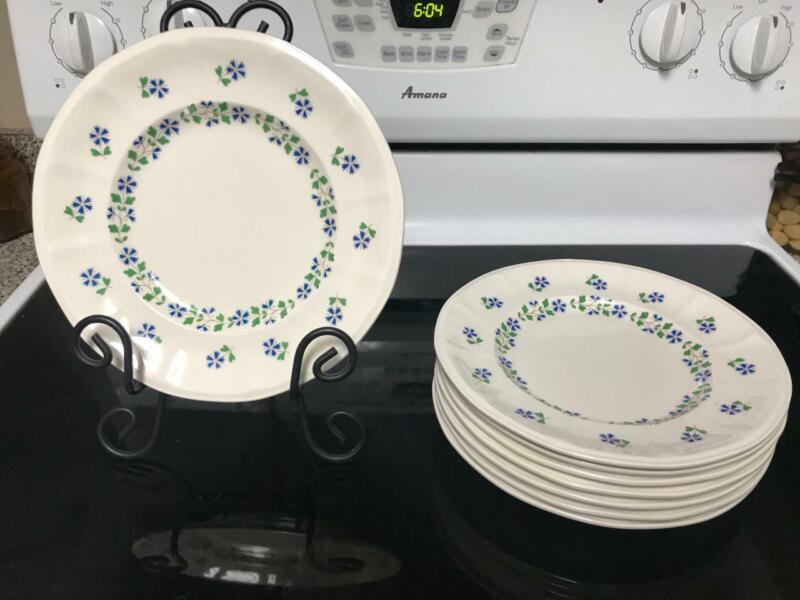 Iroquois PERIWINKLE Museum Collection Henry Ford SALAD /LUNCHEON Plates 8 5/8""