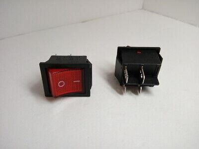 2 Pcs Lot Pack Kcd4 16a 250v Ac 20a 125v Red Light Rocker Boat Switch 4 Pins 2po