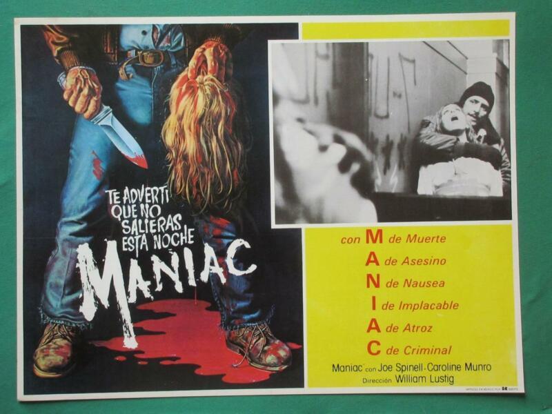 MANIAC Horror SERIAL KILLER Murder DECAPITATION Gruesome MEXICAN LOBBY CARD 8