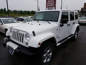 2014 Jeep Wrangler Unlimited Sahara LEATHER !! ACCIDENT FREE...