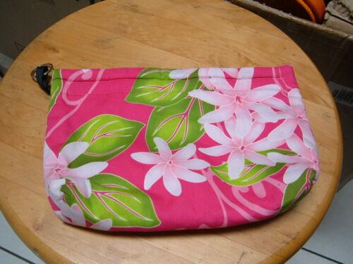 "HAWAII MADE BEAUTIFUL & COLORFUL HAWAIIAN FABRIC 9 3/4""x 6 1/2"" CLUTCH BAG POUCH"