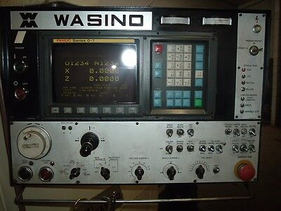 Wasino Lj-102 Cnc Lathe 10 With Slightly Used Smw Barfeed