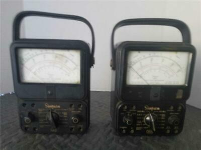 Two 2 Simpson 260 Vacuum Tube Volt-ohmmeter Pre-owned For Parts