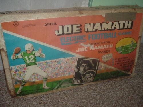 Vintage Joe Namath Electric Vibrating Football Game Collectible,Tested,Works.