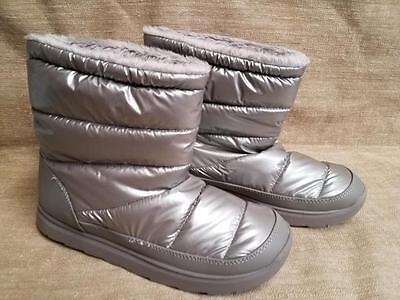 Silver Tek Gear Boots Winter  69 Retail Snow Fashion Sport Puff Fur Moon Ladies