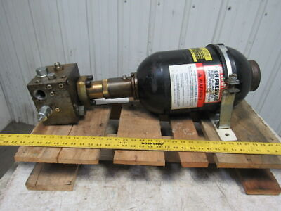 Hydac 02055208 2.5 Gal High Pressure Hydraulic Accumulator Counterbalance