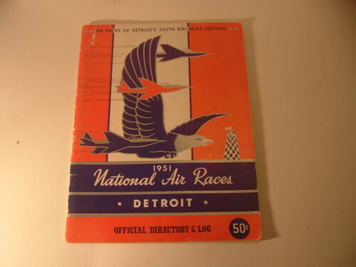 RARE 1951 National Air Races Detroit Michigan Program