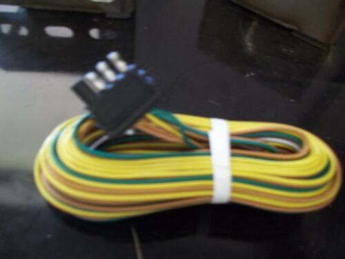 25' trailer wire harness w plug yellow green brown and white wires