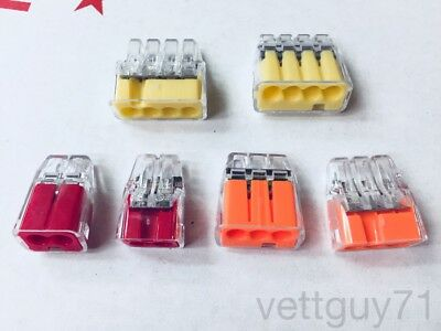 Ideal In-sure Push-in Wire Connectors 234 Port Redorangeyellow 12-20awg