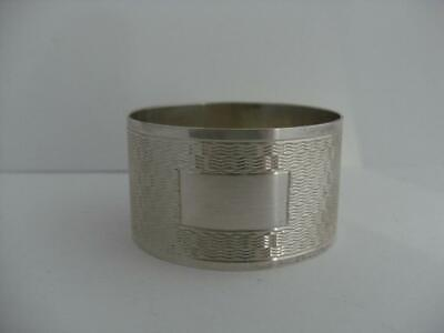 LOVELY SOLID SILVER NAPKIN RING Sheffield 1964