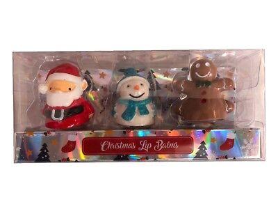 Fiesta Navidad Temática Bálsamo Labial Mascotas Juego de 3 Bálsamos Set Regalo